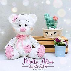 Crochet Teddy Bear Pattern, Christmas Crochet Patterns, Crochet Animal Patterns, Crochet Bear, Stuffed Animal Patterns, Crochet Patterns Amigurumi, Cute Crochet, Crochet For Kids, Crochet Animals