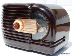 ZENITH Art Deco Antique Tube Radio - sexy