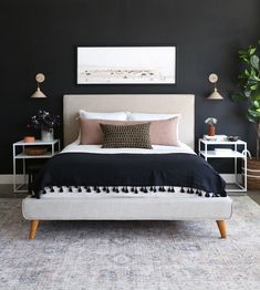 Updating Your Bedroom For Spring - Juniper Home Contemporary Bedroom, Modern Bedroom, Minimalist Bedroom, Cozy Bedroom, Bedroom Decor, Bedroom Ideas, Bedroom Storage, Bedroom Sconces, Bedroom Romantic