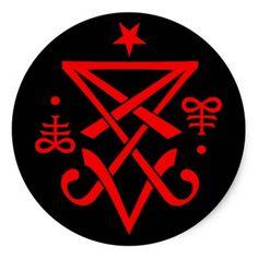 Sigil oculto de Lucifer satânico Adesivo