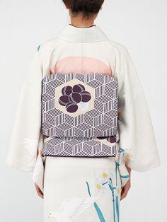 袋帯・紫   DOUBLE MAISON