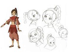 Animation Art — Avatar the Last Airbender model sheets