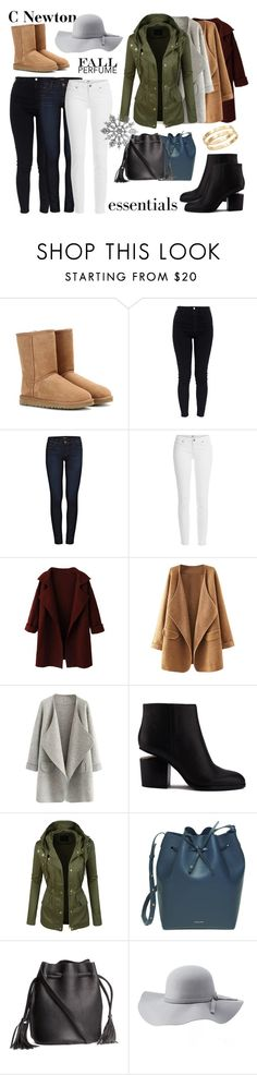 """Season's needs"" by cielonewton on Polyvore featuring moda, UGG Australia, AG Adriano Goldschmied, J Brand, Paige Denim, Alexander Wang, LE3NO, Mansur Gavriel, H&M y Charlotte Russe"