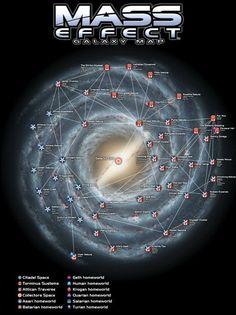 Mass+Effect+Galaxy+Map+Video+Game+32x24+Print+Poster