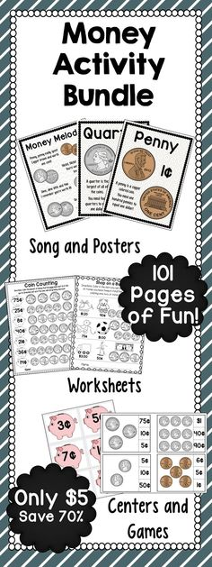 money. Includes interactive games, posters, bookmarks, worksheets ...