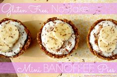 Gluten Free No-Bake Mini Banoffee Pies & A $50 iHerb.com Shopping Spree Giveaway!!  via Nutritionist in the Kitch