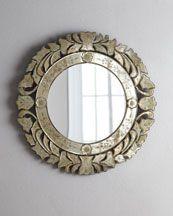 "$295. Circular Venetian-style mirror. H67XG Circular Venetian-Style Mirror. 24.5"" diameter. LOVE & cheap."