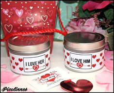 Valentine's Day Gift 2 Massage Oil Candles For Him and For