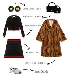 """Outfit #2️⃣"" by fashionforblog on Polyvore featuring Chanel and Gucci"