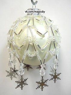 оплетение новогодних шаров бисером - Пошук Google