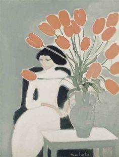 Andre Brasilier, Chantal aux tulipes