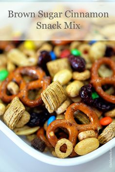 Brown sugar cinnamon snack mix recipe is perfect for a snack that is sweet and salty, crunchy and spicy.