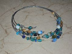 Wire & bead necklace