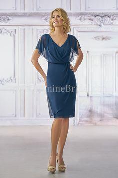 Jasmine Bridal - Jasmine Black Label Style M190001 in Jade Chiffon with Stretch Lining, color Midnight Pearl