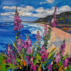 One of 40 paintings featuring in our latest exhibition of Judith Bridgland's work. The show is only on for one more week, so don't miss the chance to see it! http://www.duncanmiller.com/exhibitions/item/149/7871/foxgloves_rhossili_bay