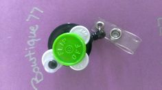 Recycled Medication Top Name Badge Holder- Baby Turtle. Starting at $1 on Tophatter.com!