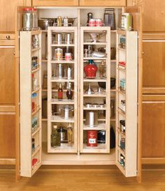 Rev-A-Shelf Swing-Out Tall Kitchen Cabinet Chef's Pantries | KitchenSource.com #kitchensource #pinterest #followerfind