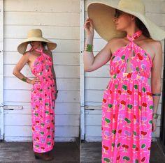 Oscar De La Renta Boutique Dress Vintage Halter by LaDeaDeiSogni, $148.00