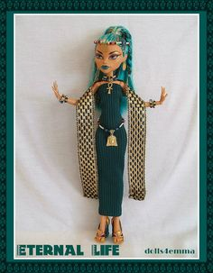 Egyptian Handmade 8pc Fashion and Jewelry for NEFERA by DOLLS4EMMA, $20.00