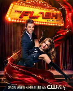 Take a look at the poster design for the upcoming The Flash Supergirl musical crossover. The two-part event airs Monday and Tuesday next week on The CW. Flash Y Supergirl, Supergirl Comic, Flash Musical, Flash Crossover, Cw Crossover, Flash And Supergirl Crossover, Alisson Teen Wolf, Series Dc, Flash Funny