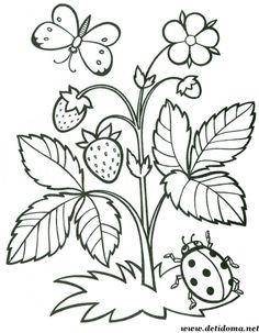 Színező oldalak a gyerekek számára. Nyári színezés. Spring Coloring Pages, Easy Coloring Pages, Printable Adult Coloring Pages, Flower Coloring Pages, Coloring Pages For Kids, Coloring Books, Coloring Sheets, Art Drawings For Kids, Outline Drawings