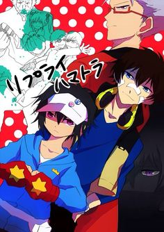 Hamatora wallpaper with Hajime, Nice, and Murasaki (and others in background)