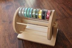 **International Customers: please email us for a shipping quote before completing your order.** Our Washi/Ribbon combo wheel is a great . Diy Crafts To Do, Diy Arts And Crafts, Creative Crafts, Wood Crafts, Paper Crafts, Craft Room Storage, Craft Organization, Ribbon Organization, Folder Organization