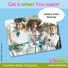 Scientifically proven: #Yabid has the best #deals! Brilliant #offers are waiting for you! Get it when YOU want it! www.yabid.net