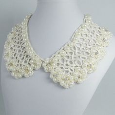 Bridal Lace Ivory Pearls Peter Pan Collar by BellaJewelry4u, $11.99