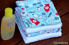 Decorative Wash Cloths: sew flannel to the front of regular wash cloths.