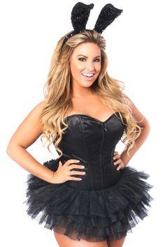 fab20947bb48 Daisy Corsets Lavish Tuxedo Bunny Corset Costume Halloween Costumes Plus  Size