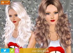 Sims 3 Finds - Hair J 141 for female at NeSea Sims