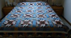 My Version of Bonnie Hunter's Grand Illusion Mystery Quilt.  Machine Quilted by Kristyn McCoy.
