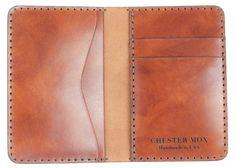 Chester Mox - #53 Antiqued Saffron Italian Calf Compact Bi-Fold Wallet