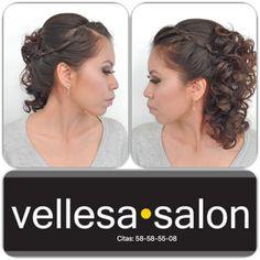 SEMIRECOGIDO CON TRENZA #vellesasalon #judithluna #janelly #makeup #hair #cortes #peinados #maquillajes