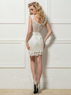 Resultado de imagen para vestidos de encaje cortos blanco
