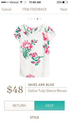 Stitch fix stylist please send me this!!! Skies are Blue Galice Tulip Sleeve Blouse, Stitch Fix