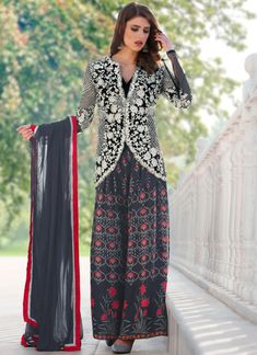 Order now showy rose pink c-cut floral designer crepe dress for engagement online. This boutique style frock suit set comes up with round neck and full sleeve. Designer Suits Online, Designer Salwar Suits, Designer Dresses, Anarkali Frock, Anarkali Suits, Latest Salwar Kameez Designs, Floral Dress Design, Engagement Dresses, Indian Ethnic Wear