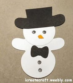 Stampin' Up! Cookie Cutter, Punch Art, Snowman. Created by Pauline Barnfather, I Create Craft
