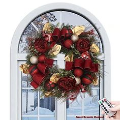 Valery Madelyn Christmas Wreath Red and Black
