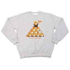 レッサーパンダ 組体操 まろ眉   デザインTシャツ通販 T-SHIRTS TRINITY(Tシャツトリニティ)