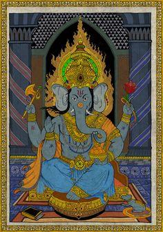 Ganesh destruindo obstáculos e nos abençoando