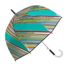 great striped bubble umbrella by shedrain Bubble Umbrella, Under My Umbrella, I Love Rain, Brollies, Dew Drops, Umbrellas, Clear Acrylic, Bubbles, Victorian