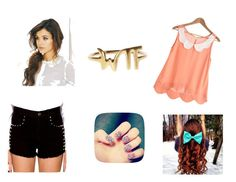 """""""Fashion & Style"""" by elena-dragomir ❤ liked on Polyvore featuring Forever 21, Nail Rock and Zara Simon"""