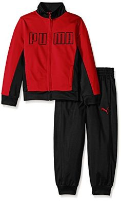 PUMA Boys' Tricot Jacket and Pant Set >>> You can get additional details at