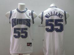 nba jersey sacramento kings 55 williams white jersey