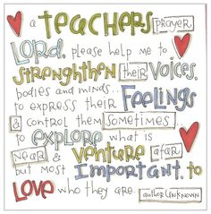 teacher's prayer, so cute!