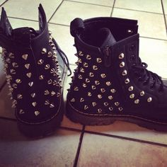 studded boots following the military trend. :P