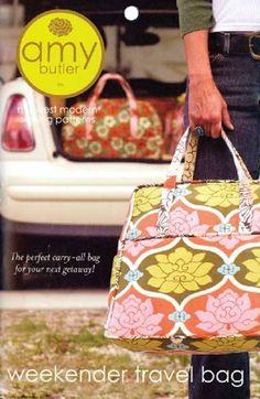 Amy Butler Pattern Weekender Travel Bag
