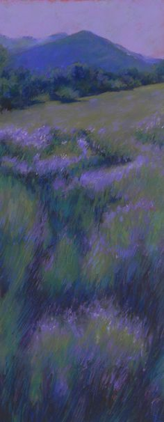 """Beth Williams: """"Mountain Lavender"""", Pastel Painting."""